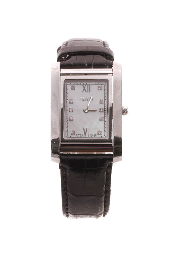 Fendi Diamond 7600m Rotating Face Watch - Steel