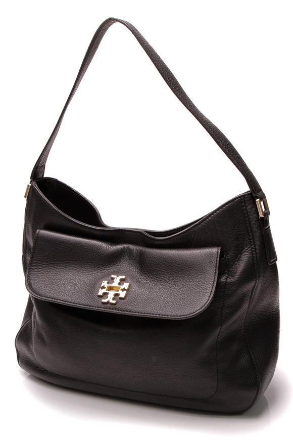 Tory Burch Mercer Slouchy Hobo Bag - Black