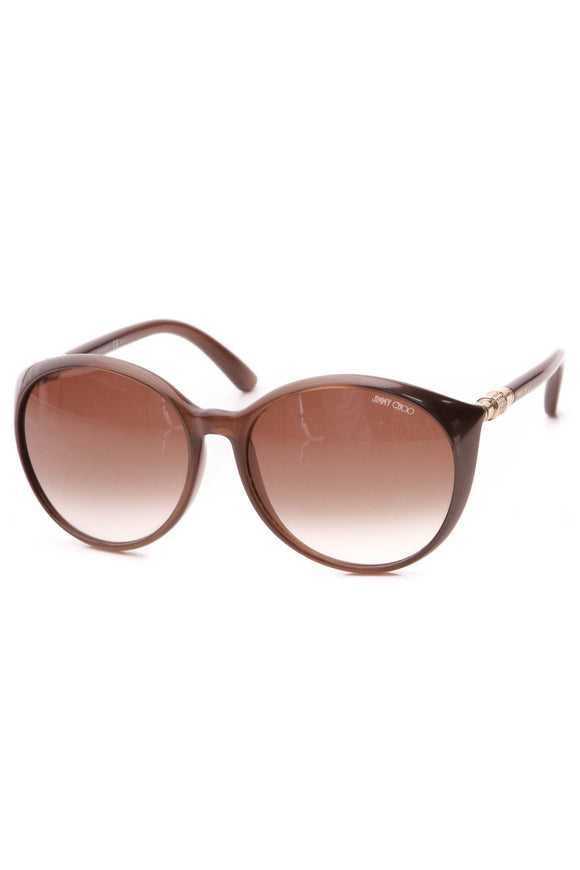 Jimmy Choo Marine Round Sunglasses - APKJD Brown