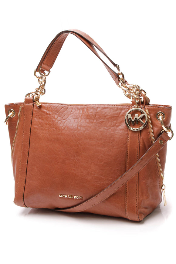 Michael Kors Stanthorpe Large Satchel Bag - Brown