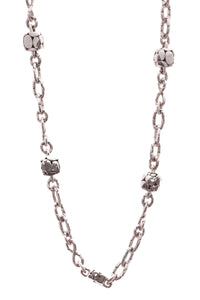 John Hardy Kali Pebble Square Station Infinity Necklace - Silver