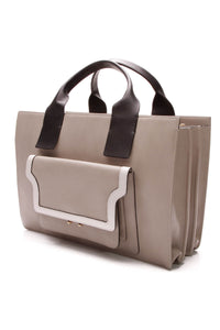 Marni City Trunk Accordion Tote Bag - taupe