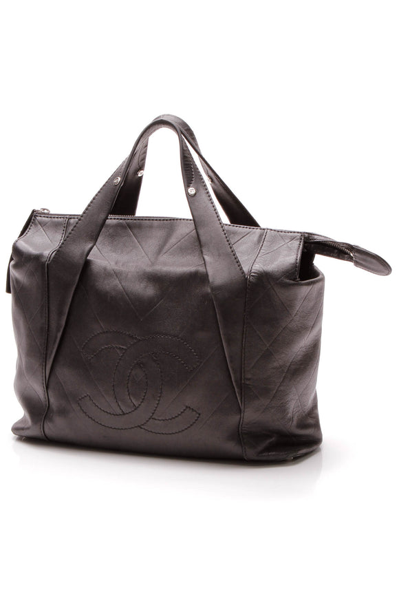 Chanel All Day Long Tote Bag - Black