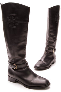 Tory Burch Blaire Riding Boots - Black Size 9