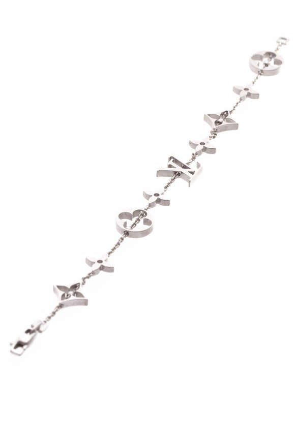 Louis Vuitton Monogram Bracelet - White Gold