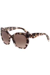 Prada Havana Irregular Spotted Sunglasses - SPR16R Gray/Brown