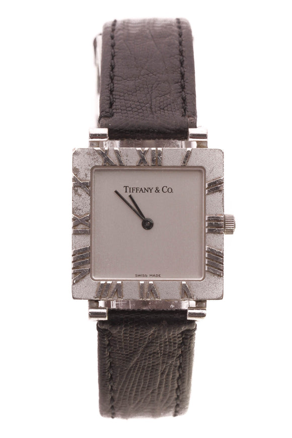 Tiffany & Co. Lizard Atlas Square Watch - Silver