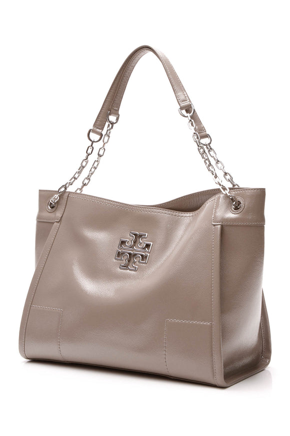 Tory Burch Britten Tote Bag - Gray