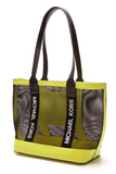 Michael Kors Danika Large Tote Bag - Black/Neon Yellow