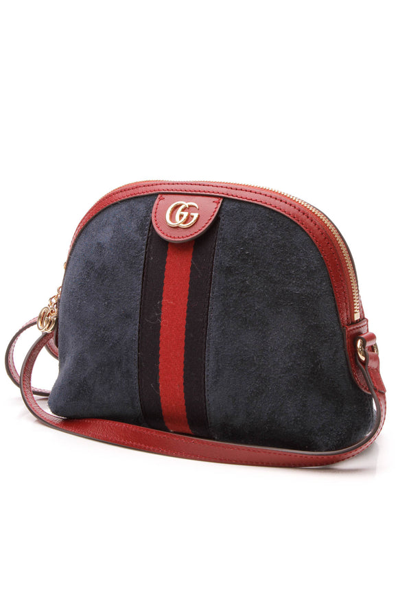Gucci Ophidia Dome Shoulder Bag - Navy
