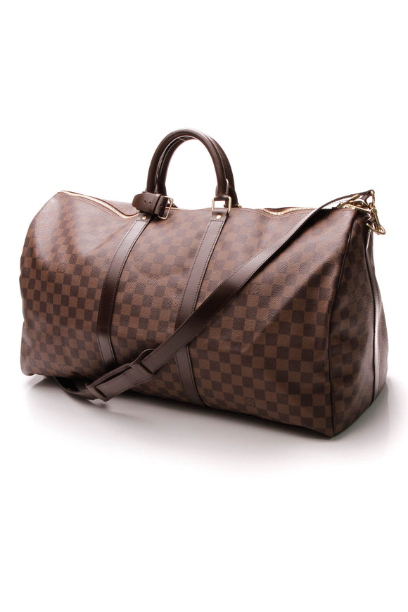 Louis Vuitton Keepall Bandouliere 55 Travel Bag - Damier Ebene