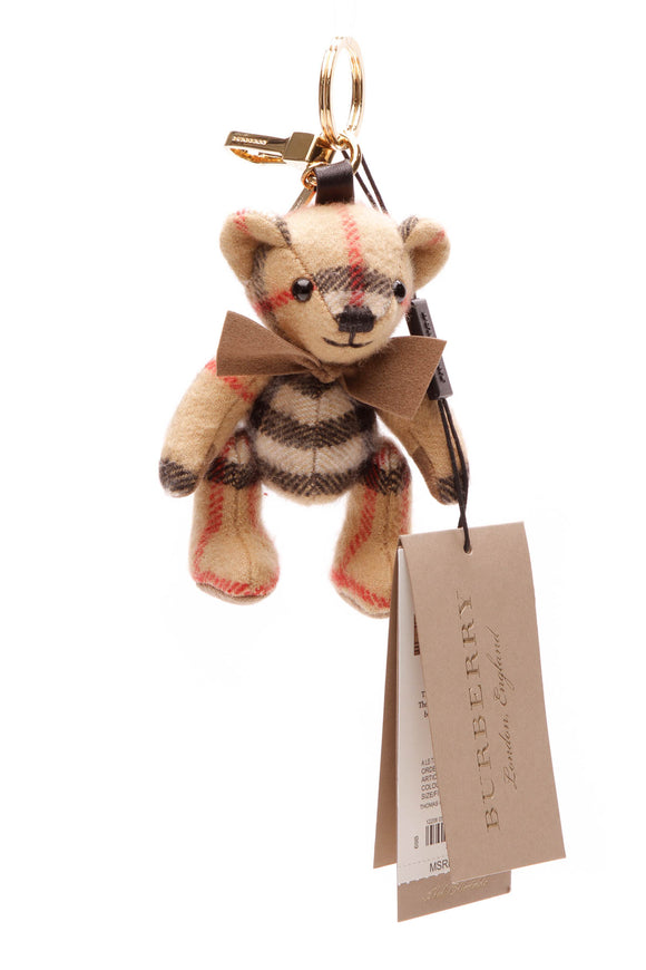 Burberry Cashmere Thomas Keychain - Vintage Check