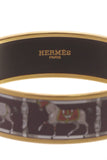 Hermes Tenues et Couvertures Wide Bangle Bracelet - Gold