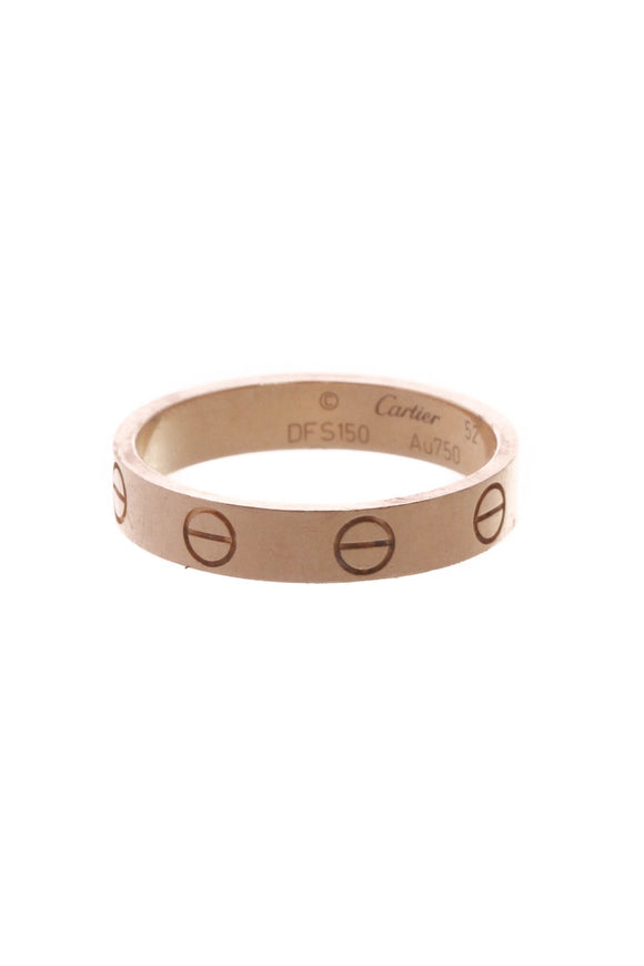 Cartier Love Wedding Band Ring - Pink Gold Size 6