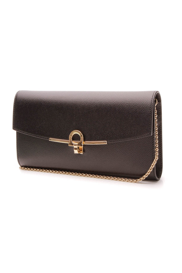 Ferragamo Gancini Icona Bag - Black