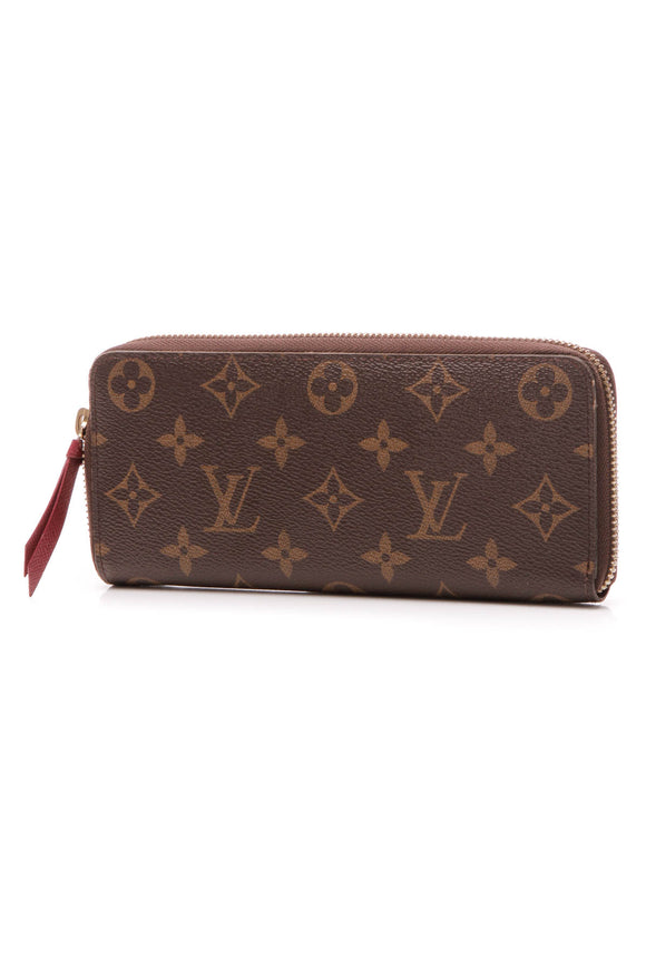 Louis Vuitton Clemence Wallet - Monogram/Fuchsia