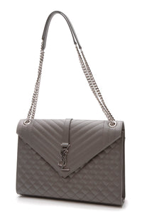 Saint Laurent Envelope Large Bag - Gray
