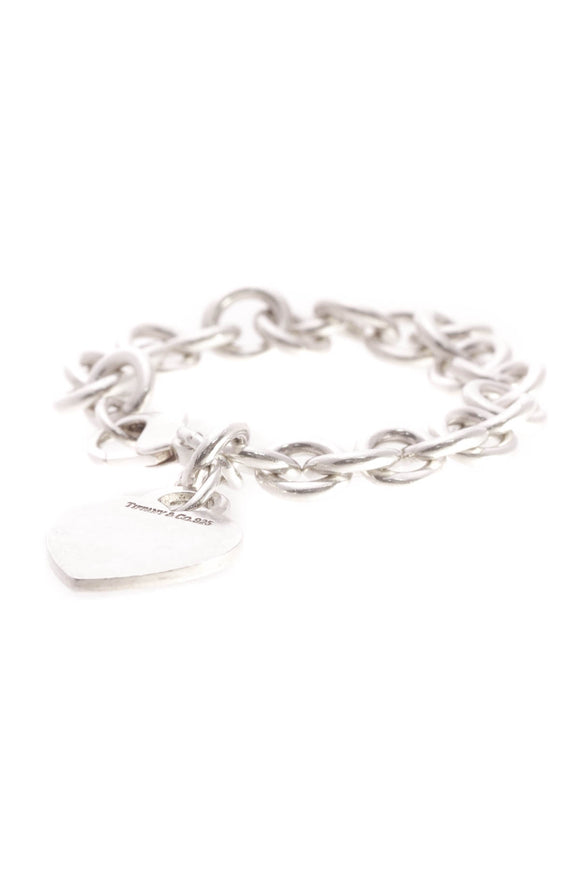 Tiffany & Co. Heart Tag Charm Bracelet - Silver