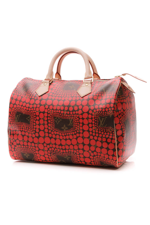 Louis Vuitton Kusama Town Speedy 30 Bag - Monogram/Red