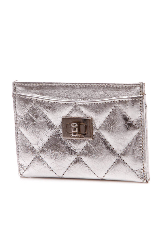 Chanel Reissue Card Holder - Silver