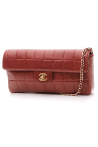 Chanel Chocolate Bar Flap Bag - Dark Red