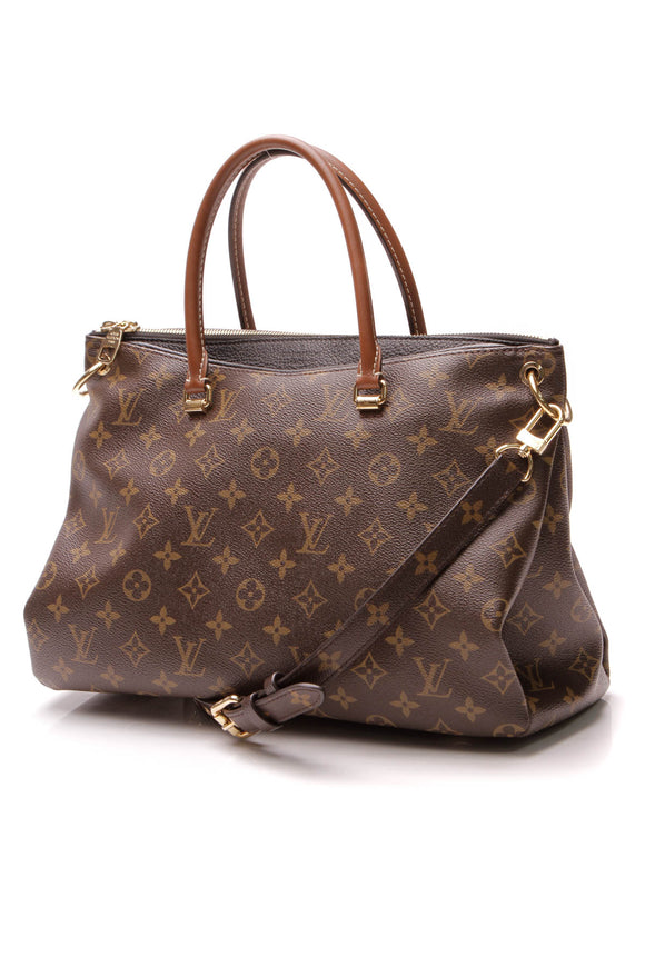 Louis Vuitton Pallas MM Bag - Monogram/Noir