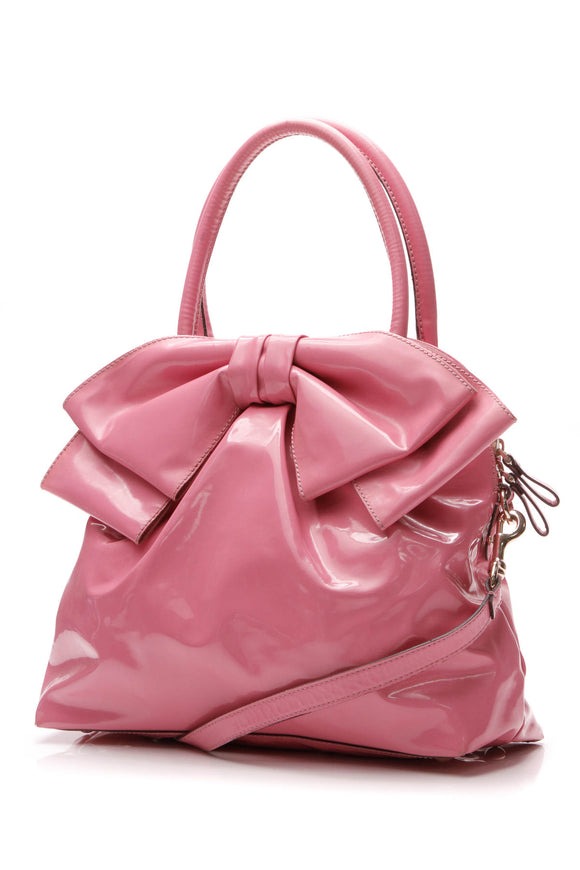 Valentino Lucca Dome Bow Bag  - Pink