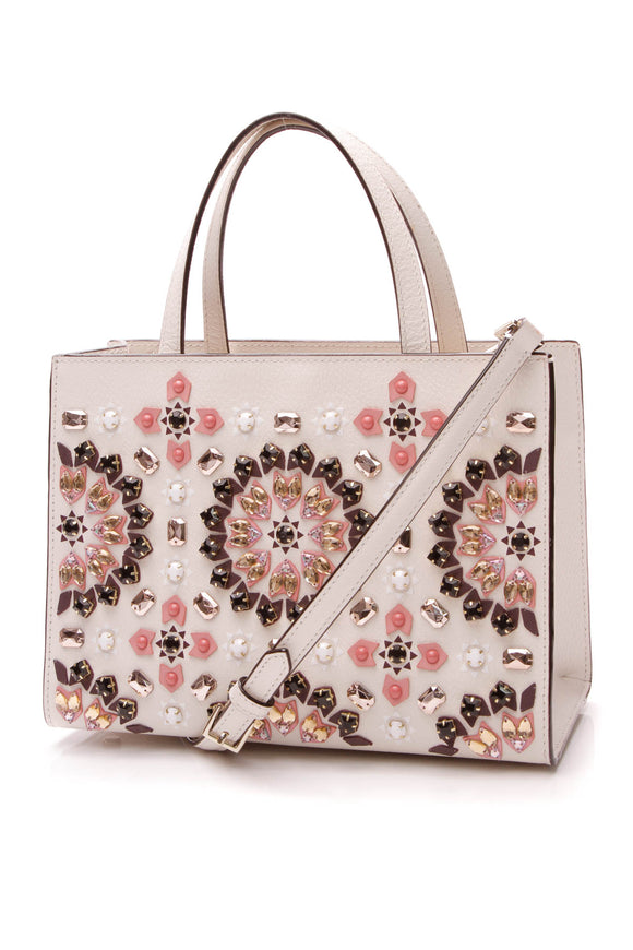 Kate Spade Thompson Street Sam Embellished Satchel Bag - Ivory