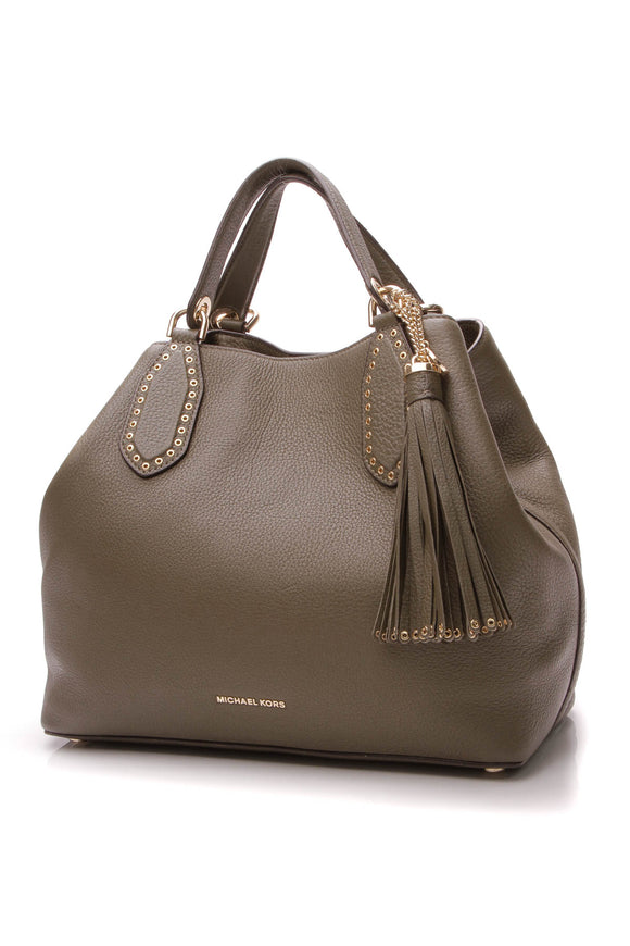 Michael Kors Brooklyn Large Tote Bag - Olive