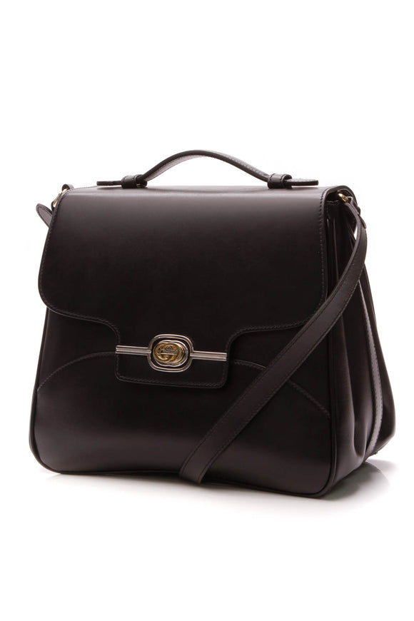Gucci Side Messenger Bag - Black