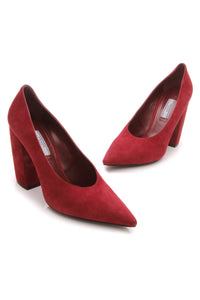 Prada Pointed Toe Pumps - Red Size 38.5