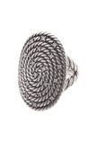 David Yurman Diamond Cable Coil Ring - Silver Size 7
