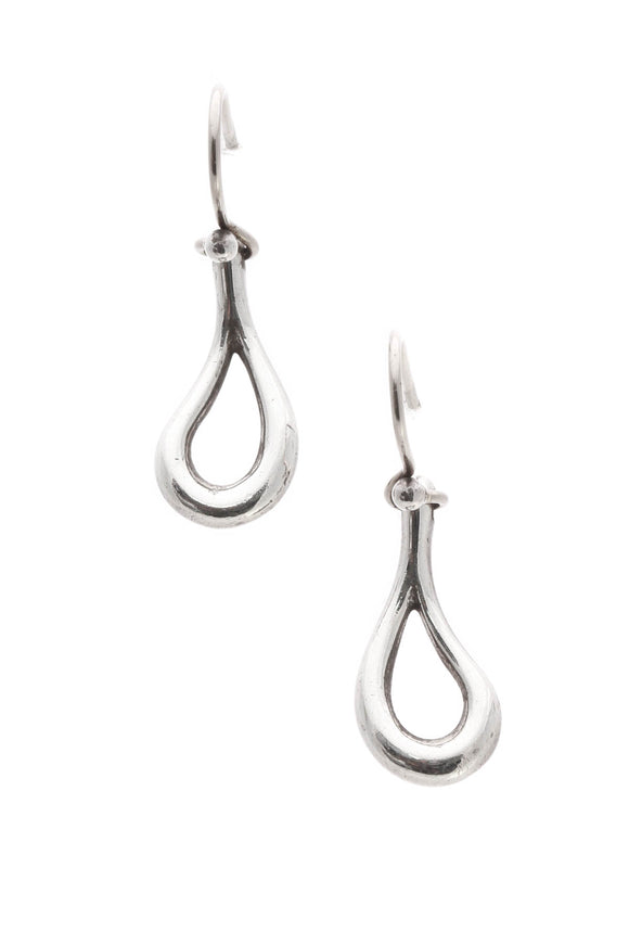 Tiffany & Co. Elsa Peretti Open Teardrop Earrings - Silver