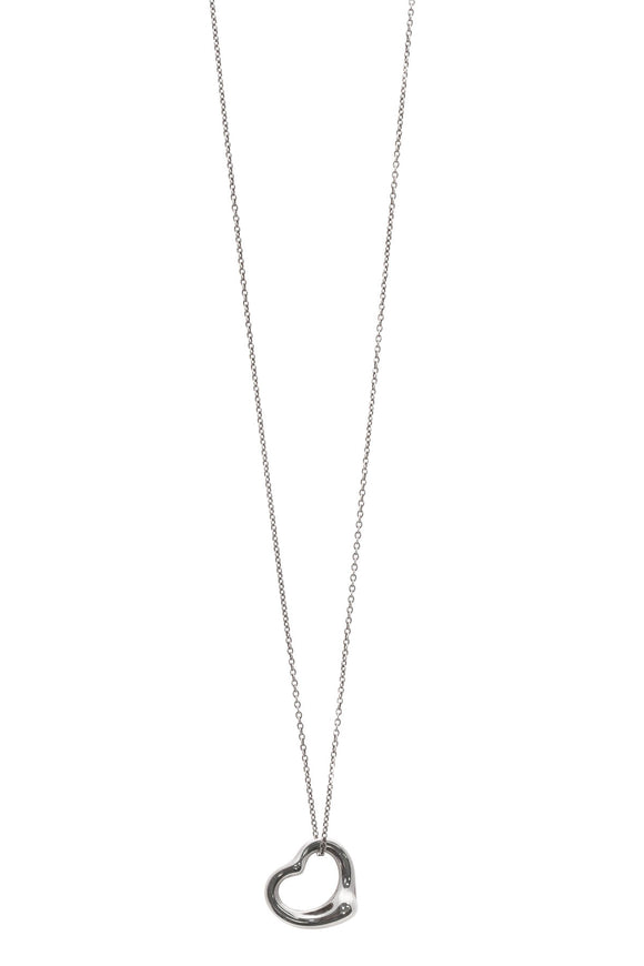 Tiffany & Co. Elsa Peretti Open Heart Pendant Necklace - Silver