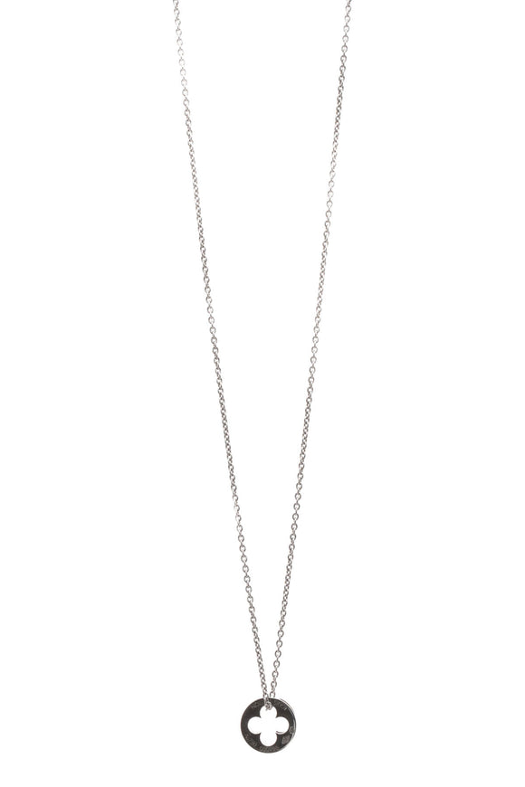 Louis Vuitton Empreinte Pendant Necklace - White Gold