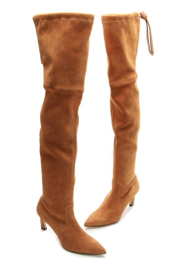 Stuart Weitzman Natalia Over-The-Knee Boots - Bridle Size 35.5