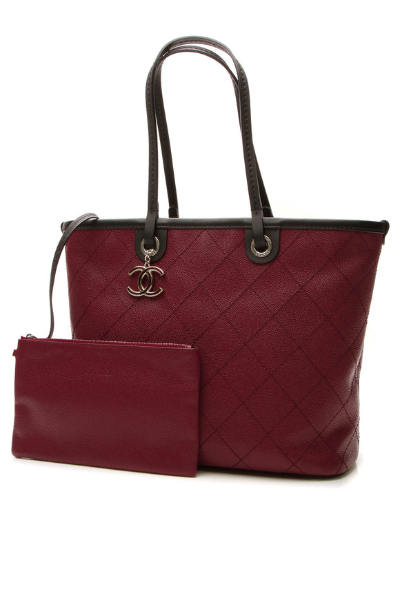 Chanel Shopping Fever Tote Bag - Burgundy