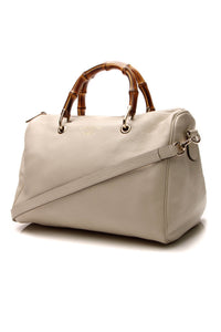 Gucci Bamboo Medium Shopper Boston Bag - Ivory