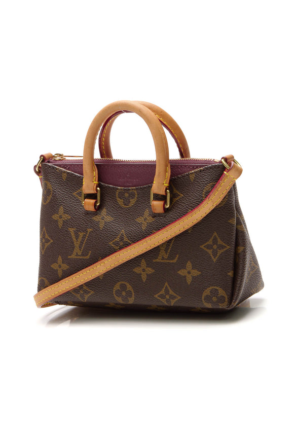 Louis Vuitton Pallas Nano Bag - Monogram/Raisin