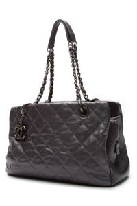 Chanel Quilted Chic Shopping Tote Bag - Pewter