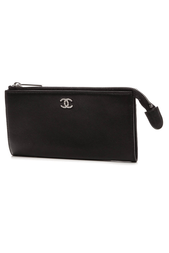 Chanel CC Wallet Pouch - Black Caviar