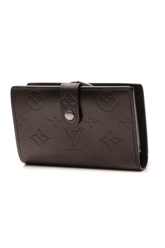Louis Vuitton Monogram Mat French Wallet - Dark Gray