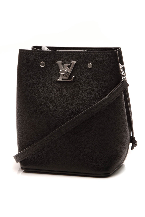 Louis Vuitton Lockme Nano Bucket Crossbody Bag - Black