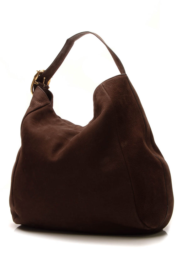 Gucci Ribot Horse-Head Hobo Bag - Brown