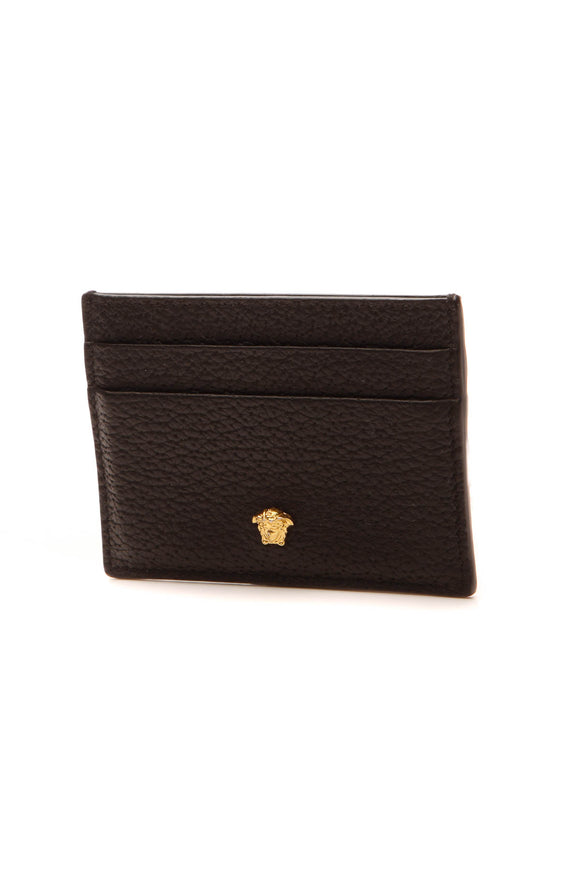 Versace Medusa Card Holder - Black