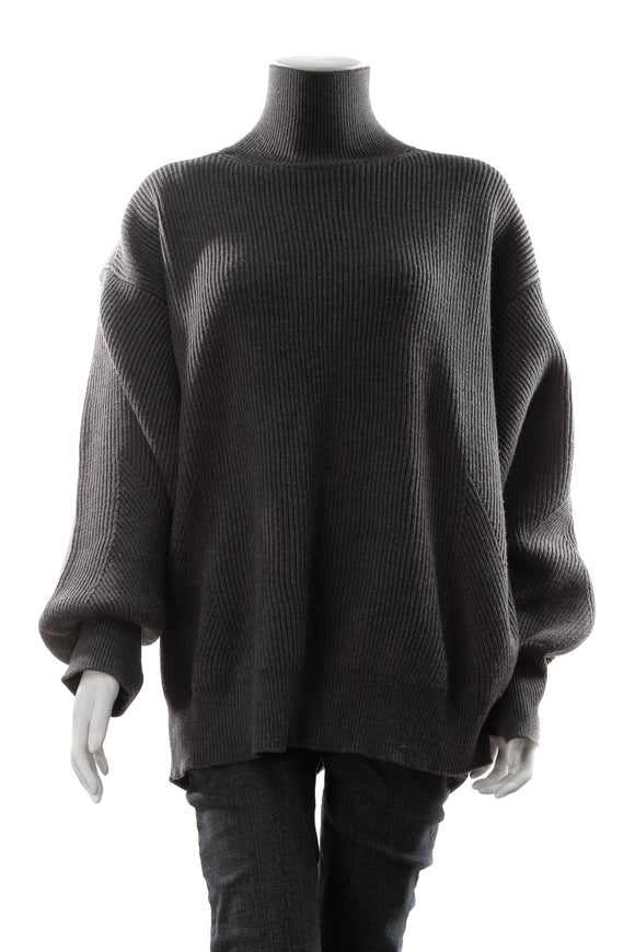 Stella McCartney Oversized Turtleneck Sweater - Gray Size 46