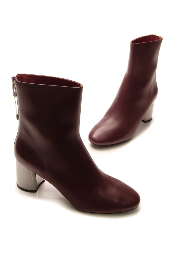 Phillip Lim Ankle Boots - Burgundy Size 141