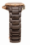 Michele Chocolate Tahitian Diamond Watch - Brown Ceramic/Rose Plated Steel