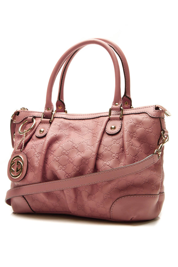Gucci Sukey Medium Top Handle Bag - Rose Guccissima