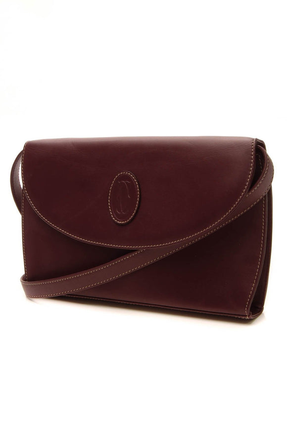 Cartier must de Cartier Convertible Clutch Bag - Burgundy